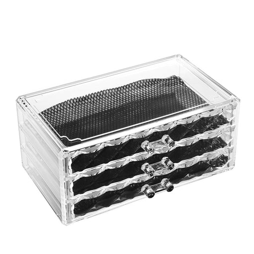 Clear Makeup Organizer Thick Acrylic Material with Drawers for Easy Storage