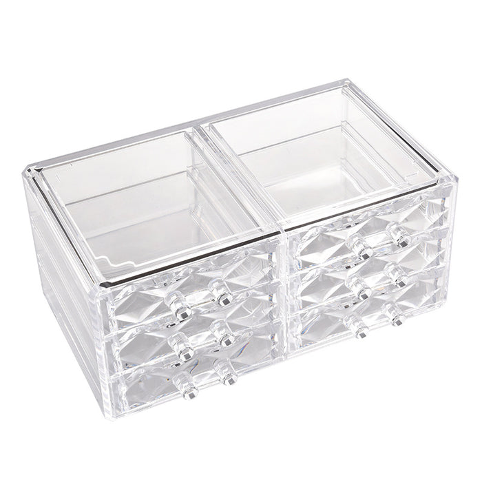 Clear Makeup Organizer Thick Acrylic Material with Drawers for Easy Storage - Caroeas