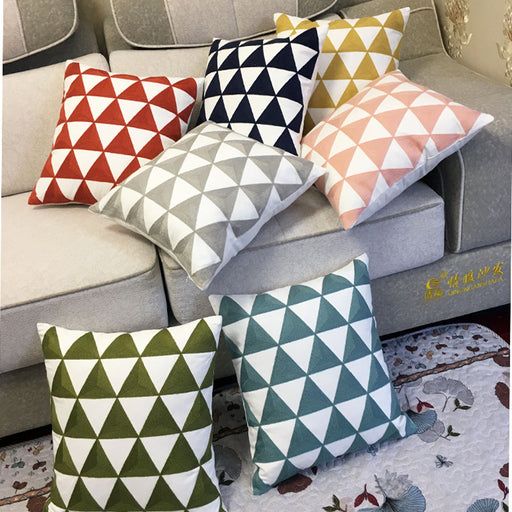 Geometric Farmhouse Throw Pillow Covers Vivid Patterns to Refresh Your Home