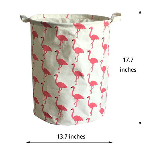 Cute Hampers Cartoon 17.7 inch Cloth Basket Food Safe Dust-Proof Double Layer with Lid - Caroeas