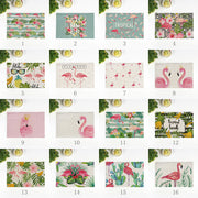 Flamingo Linen Placemats Originality Square Home Placemats Food Safe & Heat Insulation