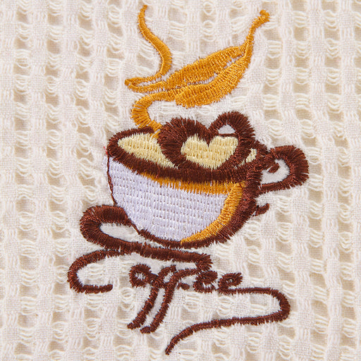 Cotton Kitchen Towels with Ultimate Soft Thick Material and Coffee Pattern for Comfortable Skin Touch