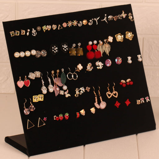 Jewelry Organizer Stand Display Cardboard with Velvet Soft Surface