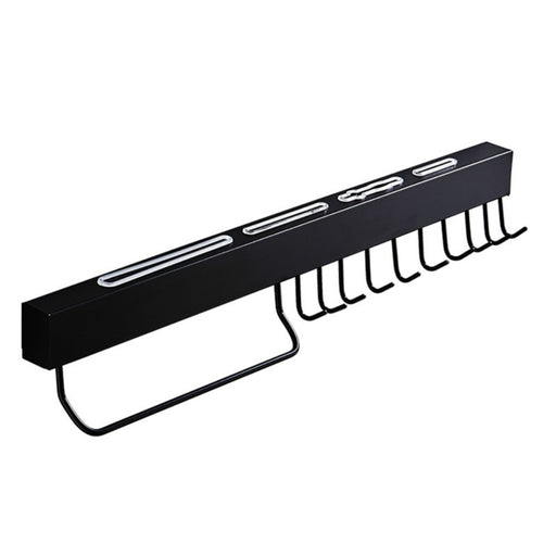 Wall Rack with Hooks with Sturdy Frame and Powerful Adhesion for Pots and Knifes Storage