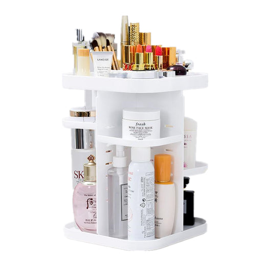 Makeup Vanity Organizer Height Adjustable with Large Capacity for Cosmetics Storage