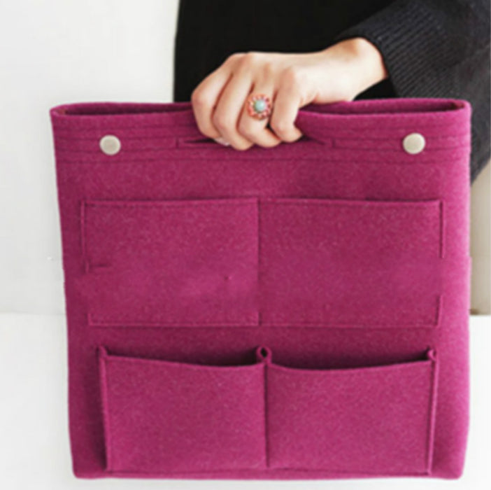 Bag Organizer Insert with Pockets and Felt Material to Keep Your Bag Tidy and Organized - Caroeas