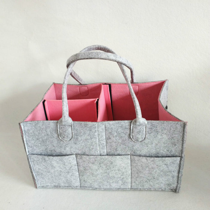 Stylish Diaper Bags Felt Soft Material with Spacious Space for Easy Storage - Caroeas
