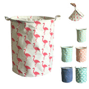 Cute Hampers Cartoon 17.7 inch Cloth Basket Food Safe Dust-Proof Double Layer with Lid
