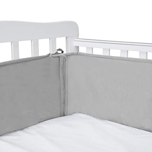 Crib Bumper Pads | Crib Bumper | Baby Crib Bumper Pads Thick Padding in Grey Color - Caroeas