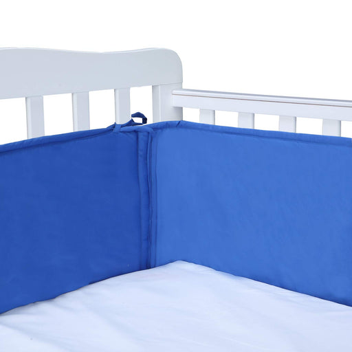 Crib Liner | Crib Bumper Pads | Crib Bumper Blue Color for Standard Crib - Caroeas