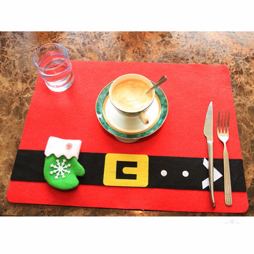 Christmas Stockings Placemats Knife Fork Holder Mat Christmas Placemats - Caroeas