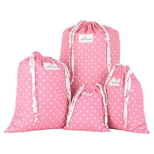 Cotton Laundry Bag Spot Pattern Thick Durable 4pcs/Set Effective Cost Multi Functions - Caroeas