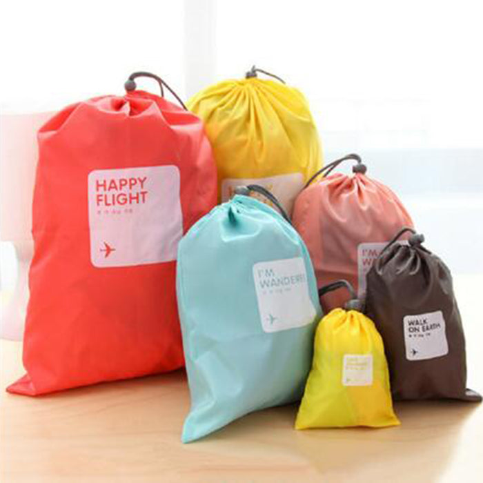 Travel Laundry Bag 4pcs/set Waterproof Storage Travel Makeup Cosmetic Storage - Caroeas