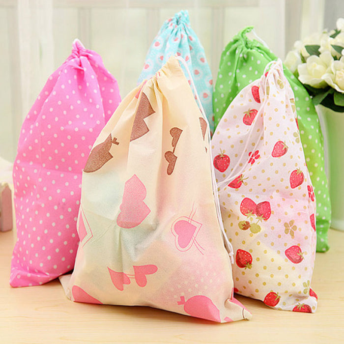 Cloth Laundry Bag Fine Sewing Storage bag Colorful Patterns Cute Organizer - Caroeas