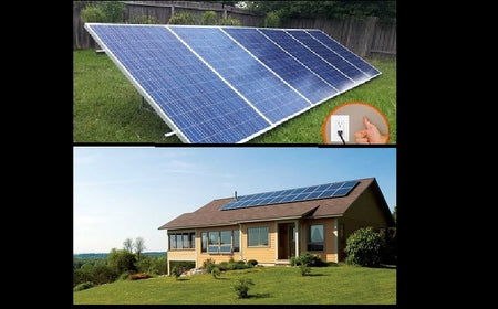 PluggedSolar 1800Watt (1.8KW) Solar Grid Tie Kit with Micro-inverter, 25Yrs Warranty, 30% Federal Tax Credit