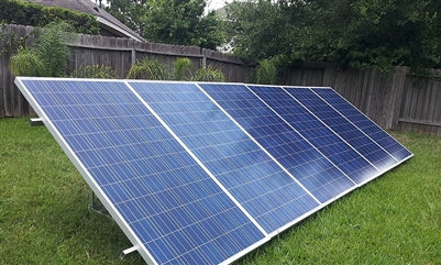 5000 Watts (5KW) Solar Grid-Tied Solar Power System with gridtie inverter , wires, panel mounting
