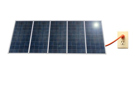 PluggedSolar 1.5KW Solar Grid Tie Kit with Micro-inverter, 25Yrs Warranty, 30% Federal Tax Credit