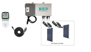 Plug and Play Solar Grid Tie Inverter, Add upto 2 Solar Panels (Max 700Watt DC) & Simply Plug into Wall. Solar Panels up to 285 DC Watts, Solar Panel Input (25-50 VDC) to 110VAC; MPPT Efficiency 95%; 20 Years Warranty