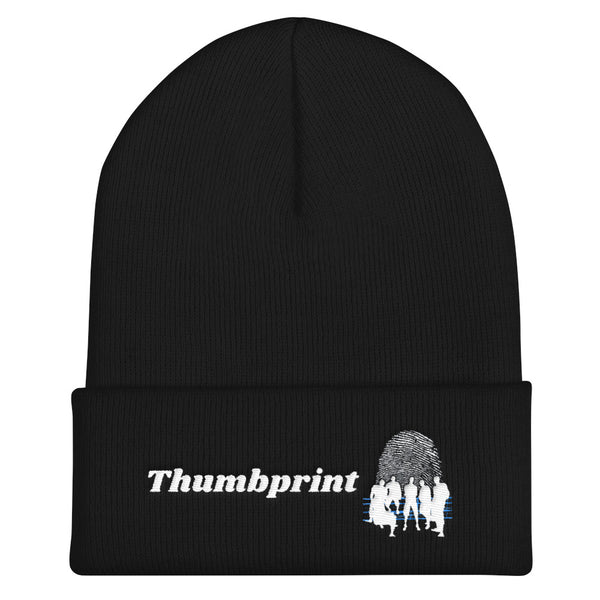 Thumbprint Cuffed Skull Cap