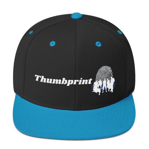 Thumbprint Snapback Hat