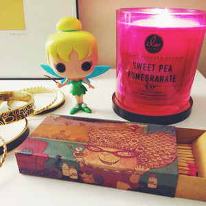 Sweet Pea Pomegranate Scented Candle