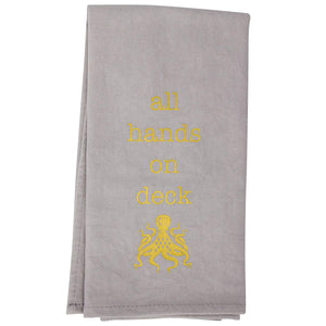 Gold Rush Octopus  Tea Towel