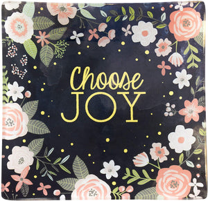 Choose Joy - Square Glass Tray