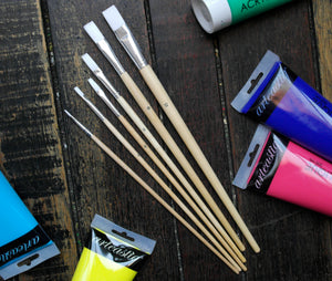 6-piece Nylon Paint Brush Set