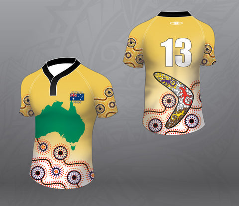Australia Map Rugby Jersey