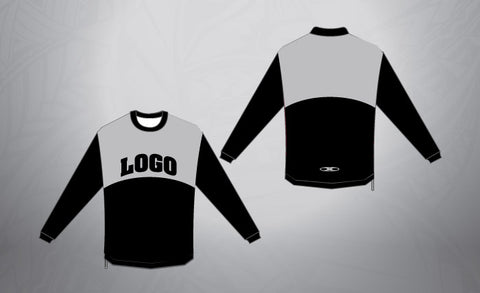 Custom Pull Over- Black/Grey