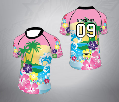 Custom Rugby Jersey-Hawaii Pattern