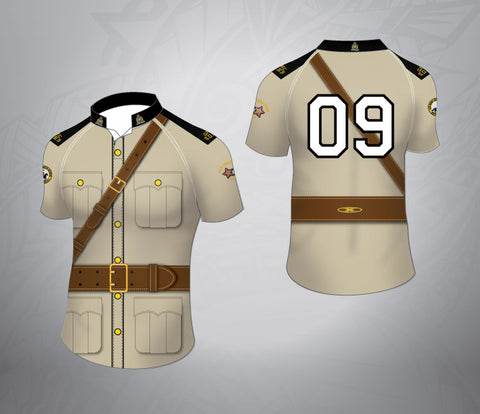 Custom Rugby Jersey-Zoo Keeper Pattern