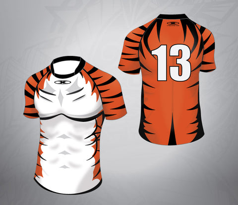 Custom Rugby Jersey Tiger Pattern