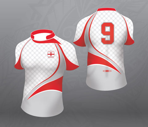 England Rugby Jersey White/Grey-Women