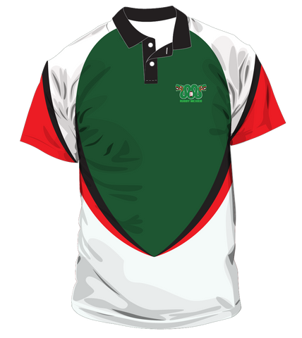 FMRU Green/White Polo - Mens