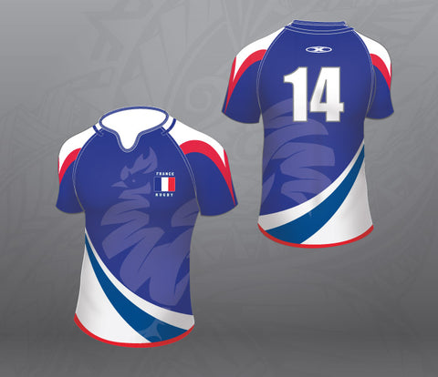 France Royal Rugby Jersey