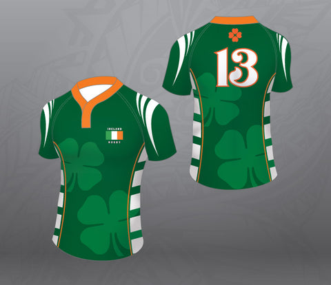 Ireland Green Rugby Jersey-Women