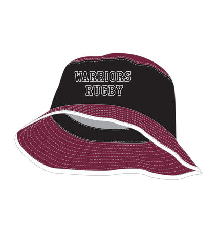 Wise Wood Warriors Blk/Maroon Bucket Hat