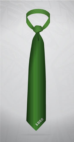Neck tie-Green Pin stripe