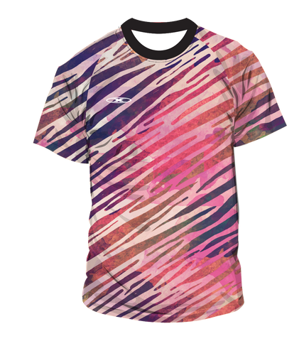 X-treme Warmup Shirt Pink/Purple Stripes
