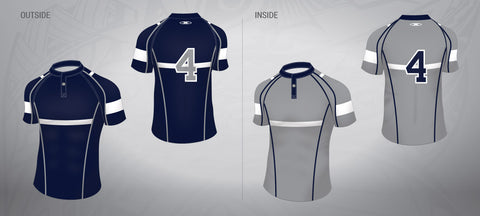 Reversible Rugby Jersey-Navy/Grey