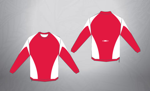 Sublimated Pull Over- Red/White