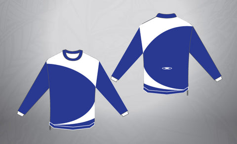 Pull Over- Royal/White