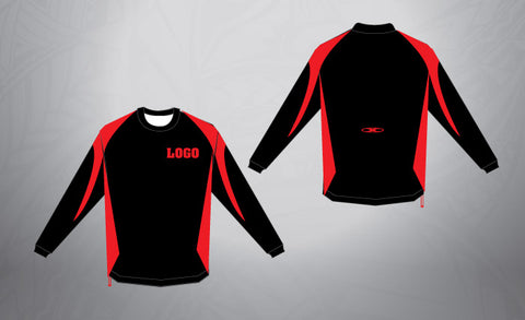 Custom Pull Over- Black/Red