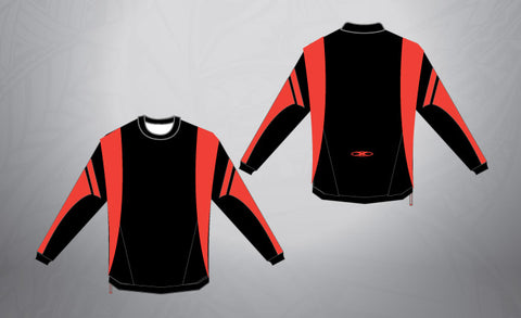 Sublimated Pull Over- Black/Red