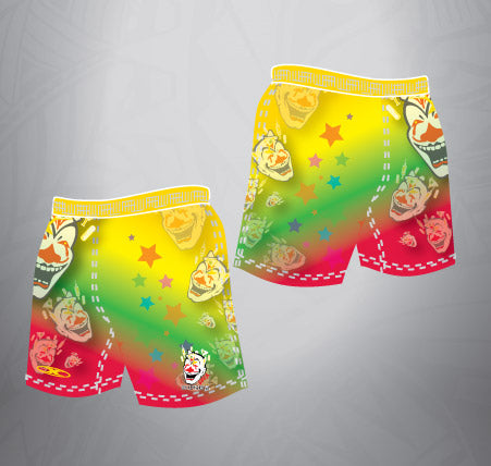 Sublimated Rugby Short Rainbow Clown