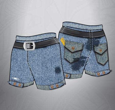 Sublimated Rugby Short Denim