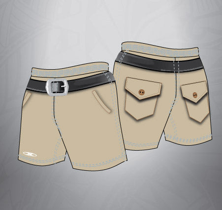 Sublimated Rugby Short khaki short