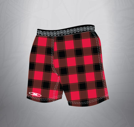 Sublimated Rugby Short Buffalo plaid