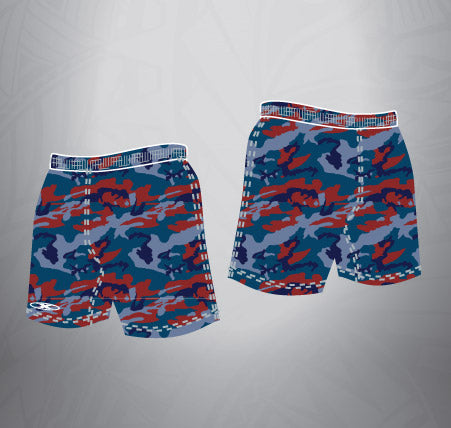 Sublimated Rugby Short Navy Camo
